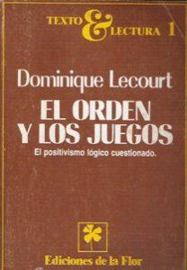 EL ORDEN Y LOS JUEGOS